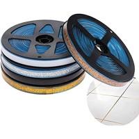 Pamura - Ceraband - Wanddeko - selbsklebendes Keramikband 6 Meter pro Rolle - Dekoband - Fugenband - wasserabweisend - DIY - für Küche Bad & Co 7 5 mm Silber