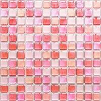 Yoillione 3D Fliesenaufkleber Mosaik Bad Fliesenfolie Küche Selbstklebende 3D Mosaik Fliesen Sticker Rosa Wasserdicht Fliesensticker Aufkleber Fliesen Folie für Badezimmer Wohnzimmer 4er Pack